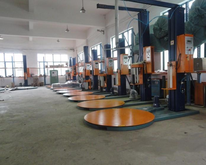 Automatic Pallet Stretch Wrapping Machines With PLC System