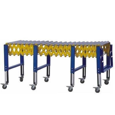 Extendable Gravity Roller Conveyor For Unloading Transport Carton